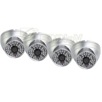 4PCS Effio Sony CCD 700TVL Color 48 IR Leds Waterproof Dome Camera CCTV Surveillance S05TS
