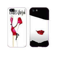 Exclusive Luxury Sexy heels Lips Plastic Case for iPhone 4 4S 5 5S Brand logo cases