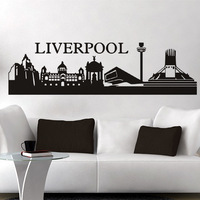 Free shipping wall stickers wall decor PVC vinyl stickers City Football stickers Liverpool L-140