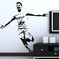 Free Shipping High quality Carved(not print) wall decor decals home stickers art PVC vinyl Football star  Z-78