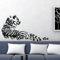 Free shipping wall stickers wall decor PVC vinyl stickers Animal stickersTIGER L-138