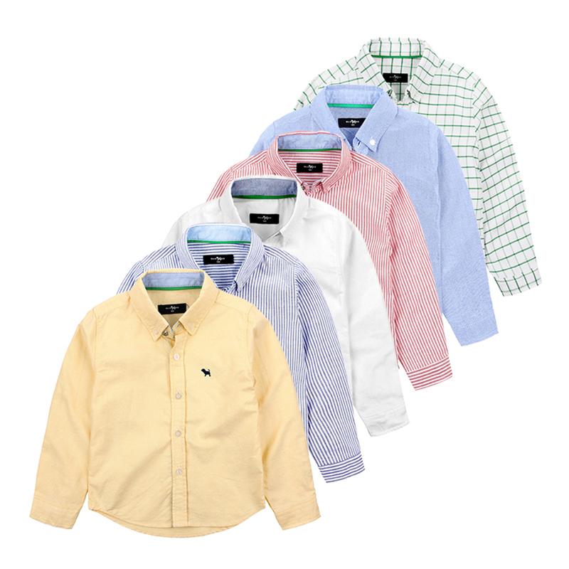 Original Quality New 2014 Spring Fashion Kids Polo Oxford Plaid Shirts Name Brand Boys Pure Cotton Long Sleeve Polo Clothes(China (Mainland))
