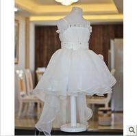 2014 child princess dress female child flower girl costume train princess dress fish tail wedding dress