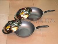 Free shipping Nano anti rust pot cast iron wok household appliance wok single handle cast iron pan fry wok with lid frying pan