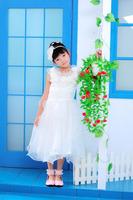Children's clothing female child spring pink tulle dress princess dress flower girl dress female child dress one-piece dress