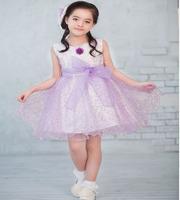 Flower girl formal dress female child princess dress purple tulle dress child dress princess dress bow