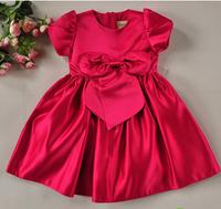 Flower girl formal dress red blue child one-piece dress wedding dress flower girl satin dress princess dress female child tulle