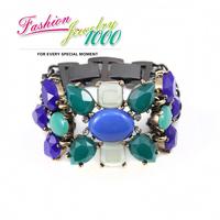 New Coming Fashion Brand Designer Vintage Retro Blue Leaf Bracelet Accessory For Women Fashion Jewelry Free Shipping
