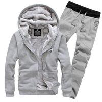 Manufacturers supply men sweater plus thick velvet hooded sweater jacket men's suits men wholesale 590