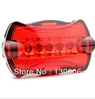 Free shipping 1Pcs/lot 5LED bicycle light bike light bicycle taillight headlight  waterproof and shockproof bicycle accessories