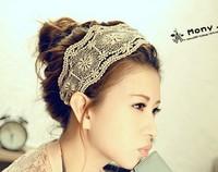 2014 Newest Arriving Free shipping 12pcs/lot Fashion wide lady lace headbands
