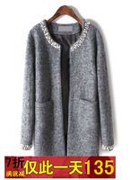 Woolen outerwear small medium-long 2013 cardigan knitted outerwear female eaw065