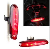 New free shipping 2Pcs/lot 5LED bike light bicycle light red taillights  warning light strip bike taillight led headlight