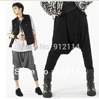 2014 costumes mens fold harem pants men Nightclubs dance pantalone menbanana pants men low drop crotch Pants for men slacks