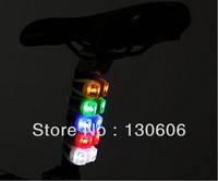 Free shipping 5Pcs/lot bicycle light  lamp / warning light mountain bike / bicycle taillight / headlight / binocular light