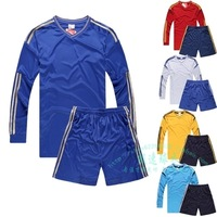 Long-sleeved brand soccer clothes suit Can print logo, jersey and shorts Sports training jerseys for men and women quick-drying