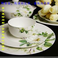 Ceramics tableware wild lily quality gift bone china 56 fine ceramics