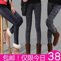 2013 autumn and winter plus velvet thickening legging plus size elastic pencil boot cut jeans female