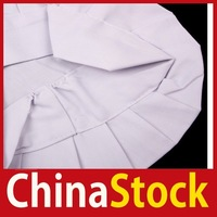 [ChinaStock] Adult Elastic White Chef Hat Baker BBQ Kitchen Cooking Hat Costume Cap One Size wholesale