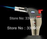 Portable mini billowed into the open flame fire gun smoke lighter small spray gun butane gas torch