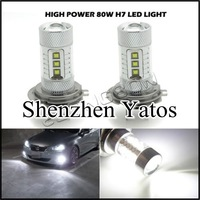 2pcs 80W H7 High Power 16 LED Foglight fog Light DRL