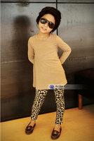 Free Shipping Girls Warm Thicken WInter Autumn Leopard Leggings Girls pants kids trousers 5Pcs/Lot