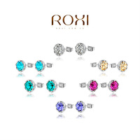 ROXI Brands,Chrismas/wedding gift,fashion/Luxury women earring,gold plated party/Carving jewelry, Austrian crystal