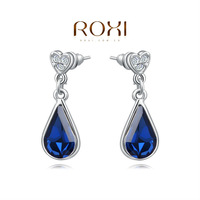 ROXI Brands,Chrismas/wedding gift,fashion/Luxurious gold star earring,girl /Carving jewelry,ocean  Austrian crystal