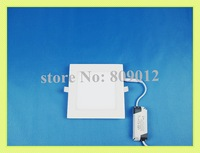 super thin square LED panel light lamp LED ceiling light 12W LED downlight SMD 2835 12W 60 led high brightness free shipping