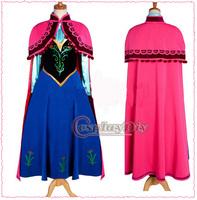 Custom Made Frozen Princess Anna Dress Cosutme Movie Cosplay Costume