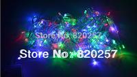 Free shipping 3pcs/lot led string 20m 200leds christmas decorative light AC220V with controller and plug