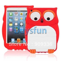 5Pieces/lot Mixed Cute Cartoon Owl Bird Silicone Cover Case For iPad Mini & Retina 2