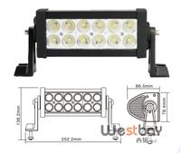 7.5inch 36W Offroad LED light Bar Combo Spot Flood beam 10-30V 2500LM Off road LED Working Light Driving light Bar ATV SUV 4WD