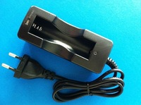 New 18650 Charger Li-ion Rechargeable battery charger EU Black AC Charger TK0027 F
