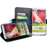 10Pieces/lot Mixed PU Stylish Card Slot Wallet Stand Leather Cover Case For LG G2 D802