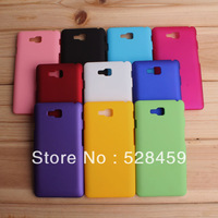 20pcs/lot Free Shipping New Rubber Hard back Case Cover For LG Optimus L9 II D605