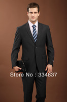 Free Shipping!New Style Fashion Busienss Suits Slim Fit Dress Suits For Men Two Pieces Jacket + Pants