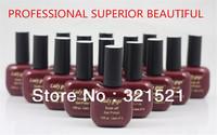 Free Shipping Of Soak-off Gel Polish( 6pcs/lot)  Led nail polish Soak-Off UV glitter Gel Polish 15ml High Quality 100% New