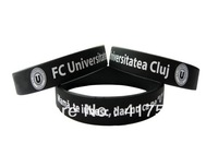PROMOTION!!Printed custom logo/silicone band/silione wrist bands personlized ID silicone bangles100pcs/lot free shipping