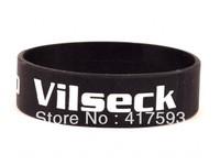 Custom silicon bracelet, silicon wristband, screen imprint printed logo, plain silicon bracelet, promotional gift, 50pcs/lot