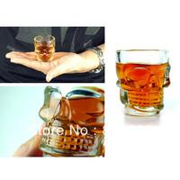 4pcs Newest Skull Head Vodka Shot Wine Glass Drinking Cup Crystal Barware 2.5 Ounces/74 ml PHFA IA358