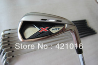 graphit regural flex shaft 2013 golf club x hot  irons set free shipping top quality
