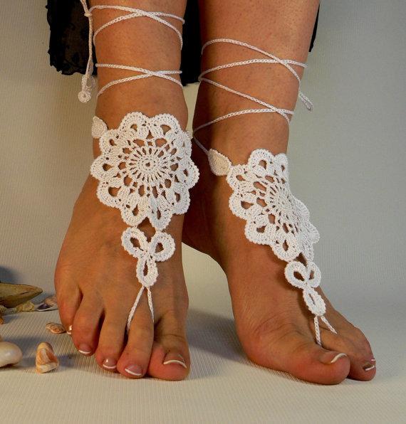 Sandalias de crochet para dama - Imagui