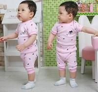 2 Colors Baby Boys' 2-pcs Summer Clothing Set, Kids' Short Sleeve T-shirt+Shorts outfit Boys' Clothing