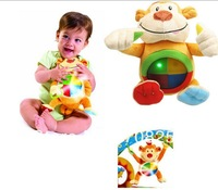 1 PCS-  Learning Musical Sound and light baby monkey pendant doll plush doll to appease even hold music educational toys