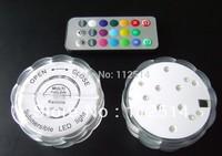 100pcs/lot remote control flower shaped submersible 10 led light