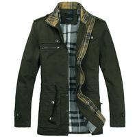 2013 winter thickening slim medium-long cotton-padded jacket 1222b p120 olive