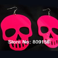 Free Shipping Classic Popular Acrylic Skeleton Skull Eearring Eardrop Europe Jewelry