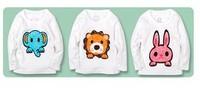 Hot Sale Boys Girls Spring T-shirt Animal Cartoon Longsleeve Cotton Kids Clothes Free Shipping