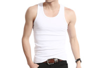 Summer hot-selling woven cotton rib knitting men's Tank Tops long design Free Shipping M4001